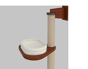 Set of 3 scratching cats house 3D model
