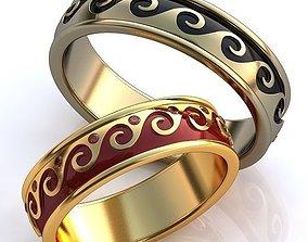 jewelry jewel 3D print model Gold Metal Rings