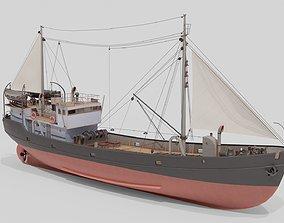 low-poly 3D model of Fishing Boat Nietlogger