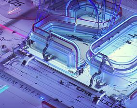 Broadcast Design - C4D Octane Scene File 3D model