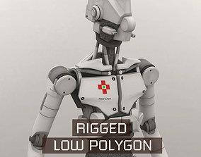 3D model Med Bot LP Rigged