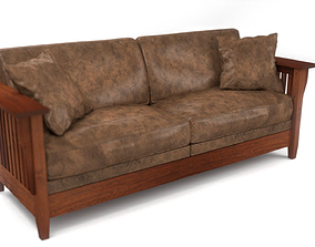 3D Stickley Craftsman Style Couch