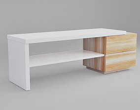 3D model TV bench with 2 drawers