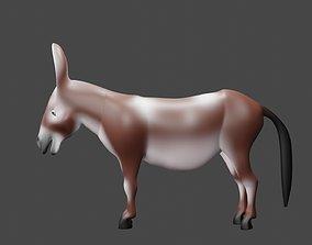 cartoon donkey 3d model animated
