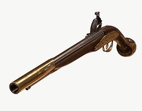 3D model flint pistol