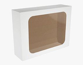 3D Cardboard box with display window 04