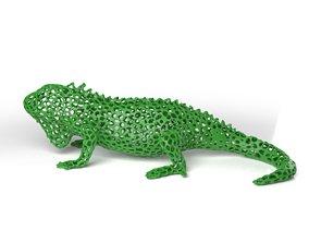Iguana Voronoi 3D model
