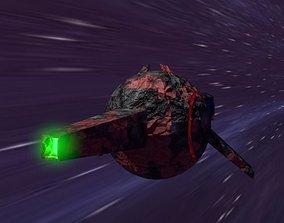 Low Poly Sci-Fi Gun With Pbr Textures 3D asset