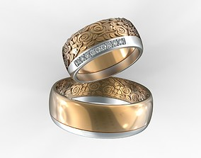 wedding 3D print model Wedding Rings STL