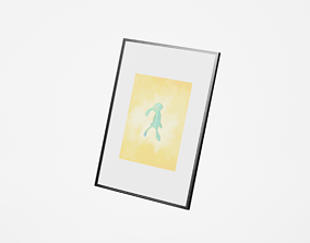 3D model Bold and Brash in a Frame with a