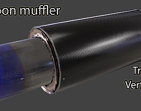 Carbon muffler 3D model