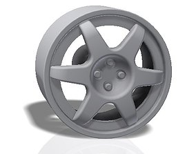 3D printable model 6 spokes rim - llanta