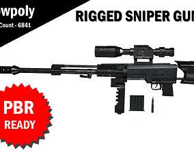 3D Sniper RIgged model rigged