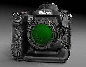 3D Nikon D4 Photo Camera