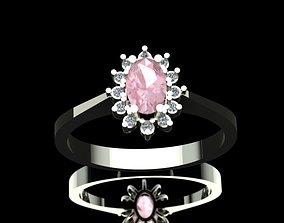 3D printable model Morganite Diamond Engagement Ring