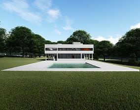 The Villa Savoye by Le Corbusier 3D model