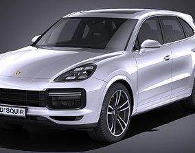 3D asset LowPoly Porsche Cayenne Turbo 2018