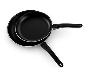 Black Frying Pans 3D