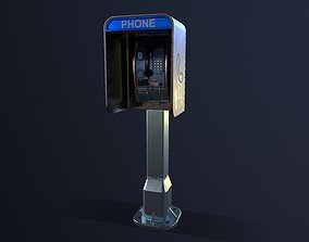 3D asset Payphone Game Ready