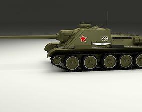 3D model SU 100 Tank Destroyer