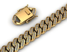 8MM MIAMI CUBAN LINK CHAIN DIAMOND 3D print model