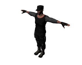 special forces night wolves named Rashid 0013 3D asset
