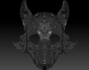 3D printable model wolf mask wolf mask stl wolf mask 3