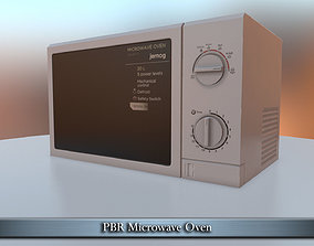 PBR Microwave Oven 3D model