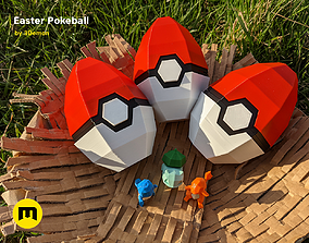Pokeball Easter Egg Box Decoration 3D print model