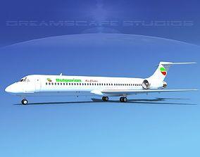 3D McDonnell Douglas MD-87 Bulgarian