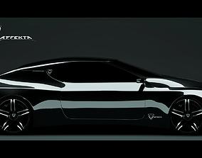 3D asset Affekta Hydroxon Sport Car Concept Low poly
