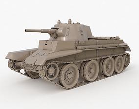 3D Tank BT 7 Soviet Clay Vray