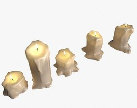 Candles Pack 3D model VR / AR ready