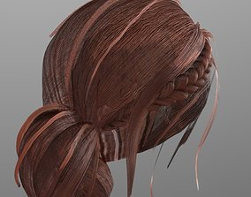 Woman hairstyle 3D model VR / AR ready
