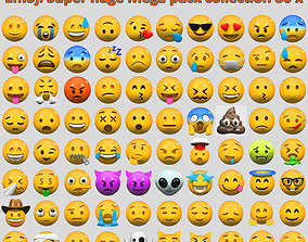Emoji Super huge Mega pack collection 80 x 3D