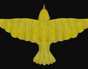 Canary yellow bird 3D model