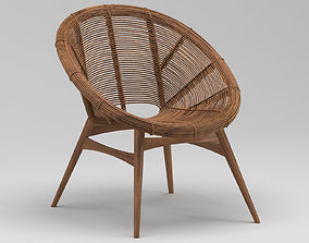Janine Abraham Lounge bamboo chair 3D model