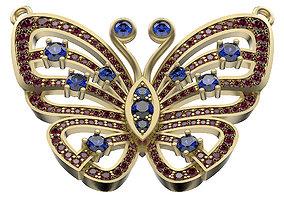 3D printable model Pendant Butterfly In Gems