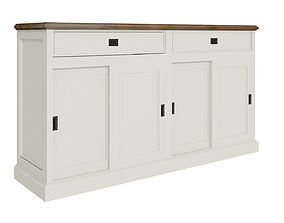 3D model White cabinets furniture