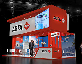 Exhibition stand 9x4Mtr Three Side Open 3D model