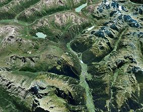 Mountain landscape earth 3D