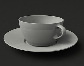 beans Coffee cup 3D model realtime