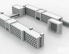 3D model low-poly Simeon Building