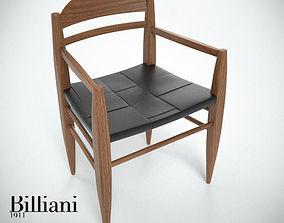 Billiani Vincent VG armchair teak teakwood 3D