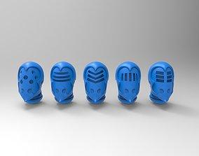 3D print model Evil Space Elf - Wrack Helm 5 styles