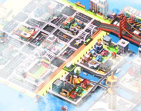 Traffic city 3D asset