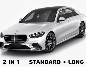 3D Mercedes-Benz S-class 2021 AMG-line LWB and SWB