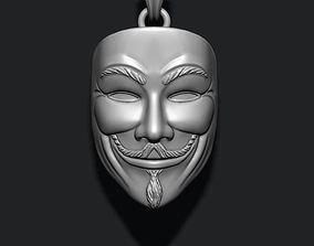 Vendetta anonymous pendant 3D printable model