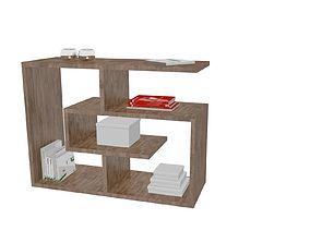 Sofa side table labyrinth 3D