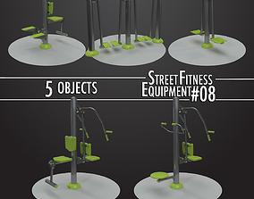 Street Fitness Equipment 5objects 08 3D